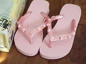 e357cc5b54be3 Havaianas Fashion Flip-Flops Sandals Pink Beaded Rose NEW US 6 (EUR ...