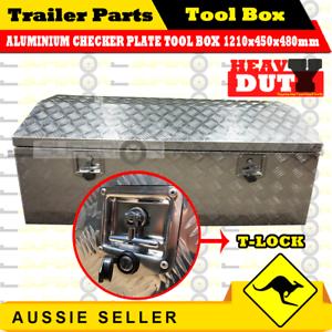 Aluminium-Top-Open-Tool-Box-1210-450-480-mm-Opening-Ute-Trailer-Toolbox-Checker