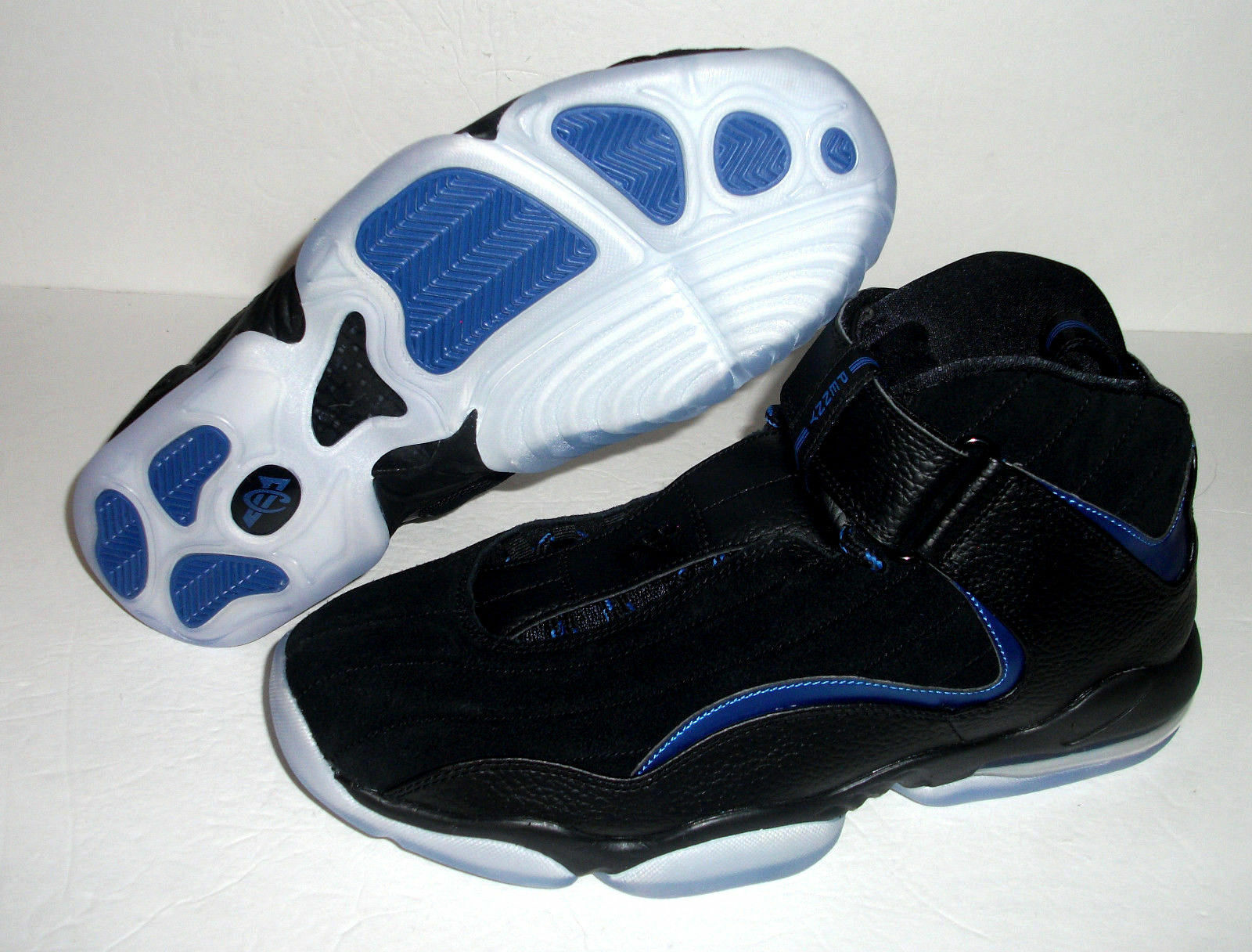 New Nike Air Penny IV 4 Basketball , Men's Size 10.5-11, Black blueee, 864018-001