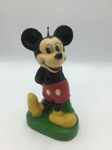 Rare-Vintage-Walt-Disney-Mickey-Mouse-Candle-Unlit-5-3-4-034-Tall