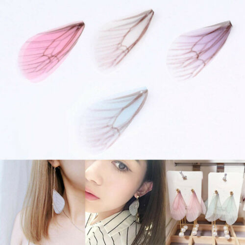 Cy/_ BG/_ 20Pcs Mixed Color Butterfly Wing Jewelry Charms Earrings Findings Crafts
