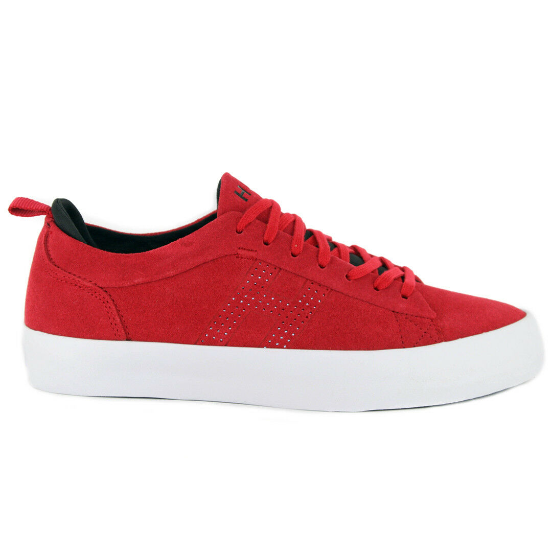 HUF  Clive  Sneakers (Red) Suede Skating Low Top Vulc shoes