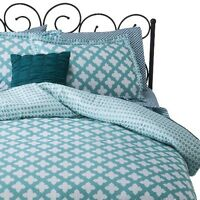 Xhilaration™ Turquoise & White Star Reversible Bed In A Bag - Turquoise