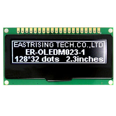 "White Serial 2.2""128x32 OLED Display Module Arduino w/Breakout Board,Tutorial"