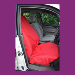 Front Single Car Van Red Waterproof LARGE Universal Airbag Seat Covers