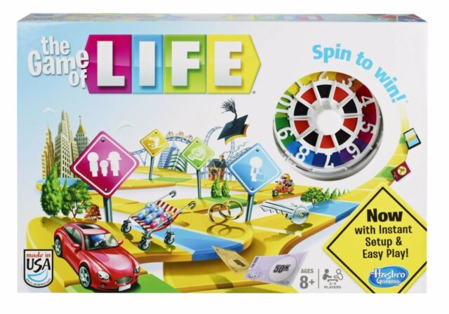 Hasbro Game of Life Family Traditional Retro Board Game NEW BOXED