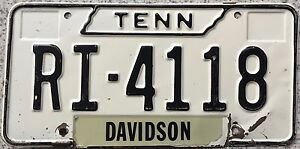 GENUINE-Tennessee-Davidson-County-USA-License-Licence-Number-Plate-RI-4118