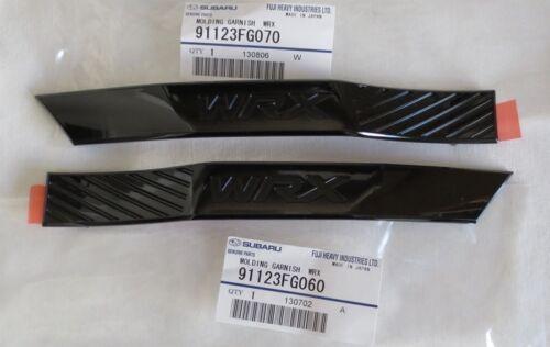 "Genuine OEM Subaru WRX Black Limited Fender Emblem Set /""WRX/"" 11-14 Impreza STi"