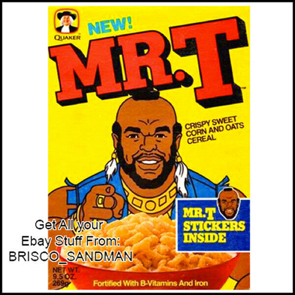 Fridge Fun Refrigerator Magnet Mr T BREAKFAST CEREAL BOX 80s A-Team Retro