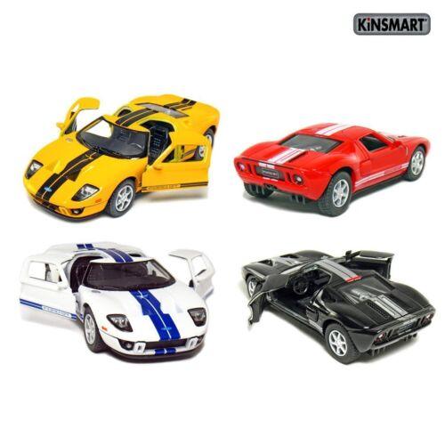 """Kinsmart 5/"""" 2006 Ford GT Diecast Model Toy Car 1:36 New Set of 4"""