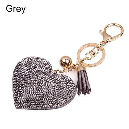 Pendant Keychain Bag Keyring Key Chain Charm Heart Crystal Rhinestone Handbag