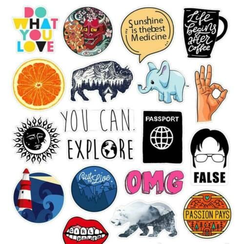 40PCS INS Cool Skateboard Stickers bomb Vinyl Laptop Luggage Decals Sticker Lot