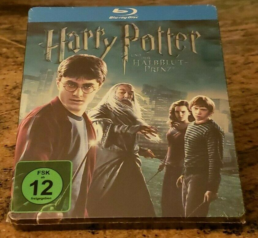 Harry Potter And The Half Blood Prince Steelbook Blu Ray New German Region Free For Sale Online