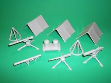 Marx Recast Military Army Field Equipment Light Tan Plastic Set Tents Heavy Guns