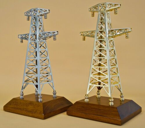 Electric Transmission Power Tower Model electricians lineman gift award trophy