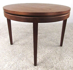 Details About Mid Century Modern Round Teak Coffee Table 1120 Nj