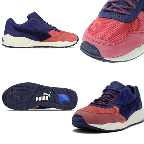 Puma XS 698 X BWGH Brooklyn Mens Womens Trainers Brown Blue Pink Navy 357033