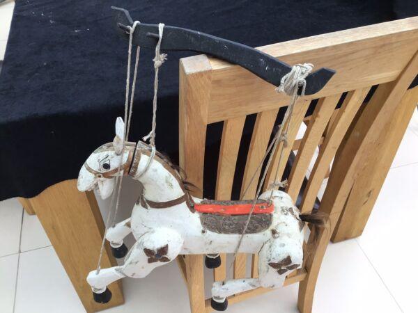 Bien Informé Vintage Antique Marionnette Cheval Unique Très Vieux