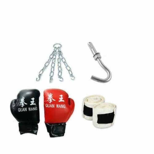 Heavy Boxing Punching Empty Bag Training Gloves Speed Set Kicking Workout GYM