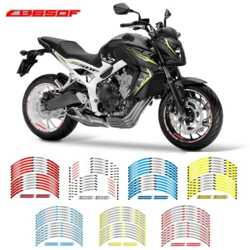 For Honda CB650F motorcycle rim protector Stripes Sticker Cool wheel stickers