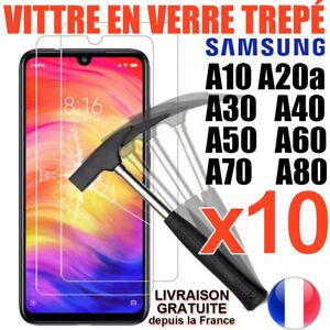 VERRE-TREMPE-SAMSUNG-A10-A50-A40-A20e-A70-A10-A80-PROTECTION-ECRAN-VITRE-FILM