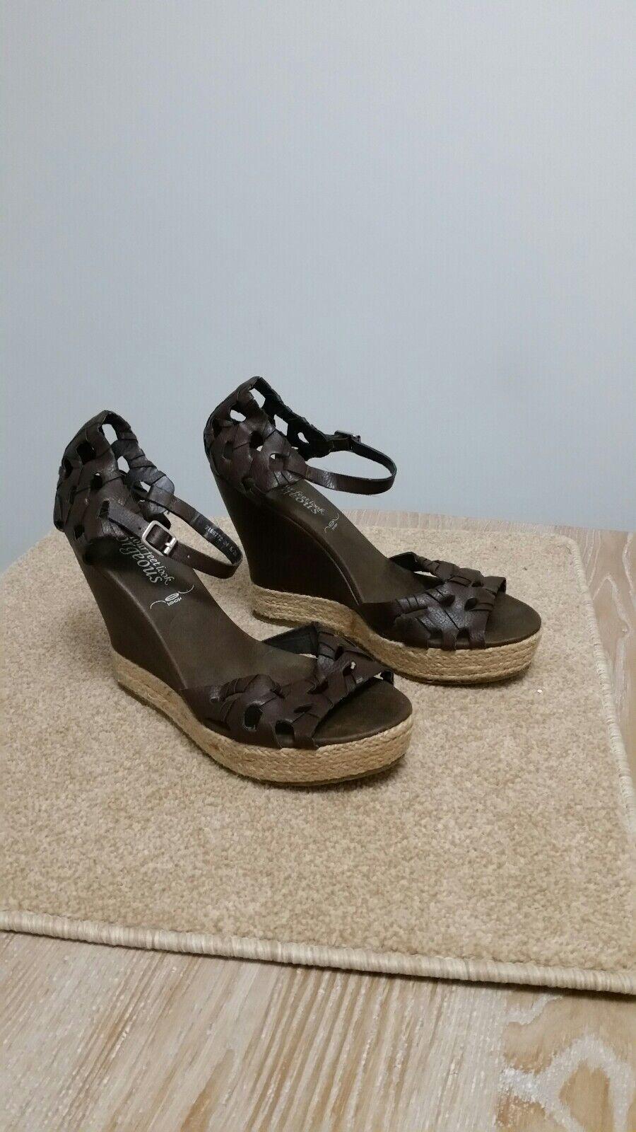Womens New brown wedge sandals. New Womens Look uk size 6 080eee