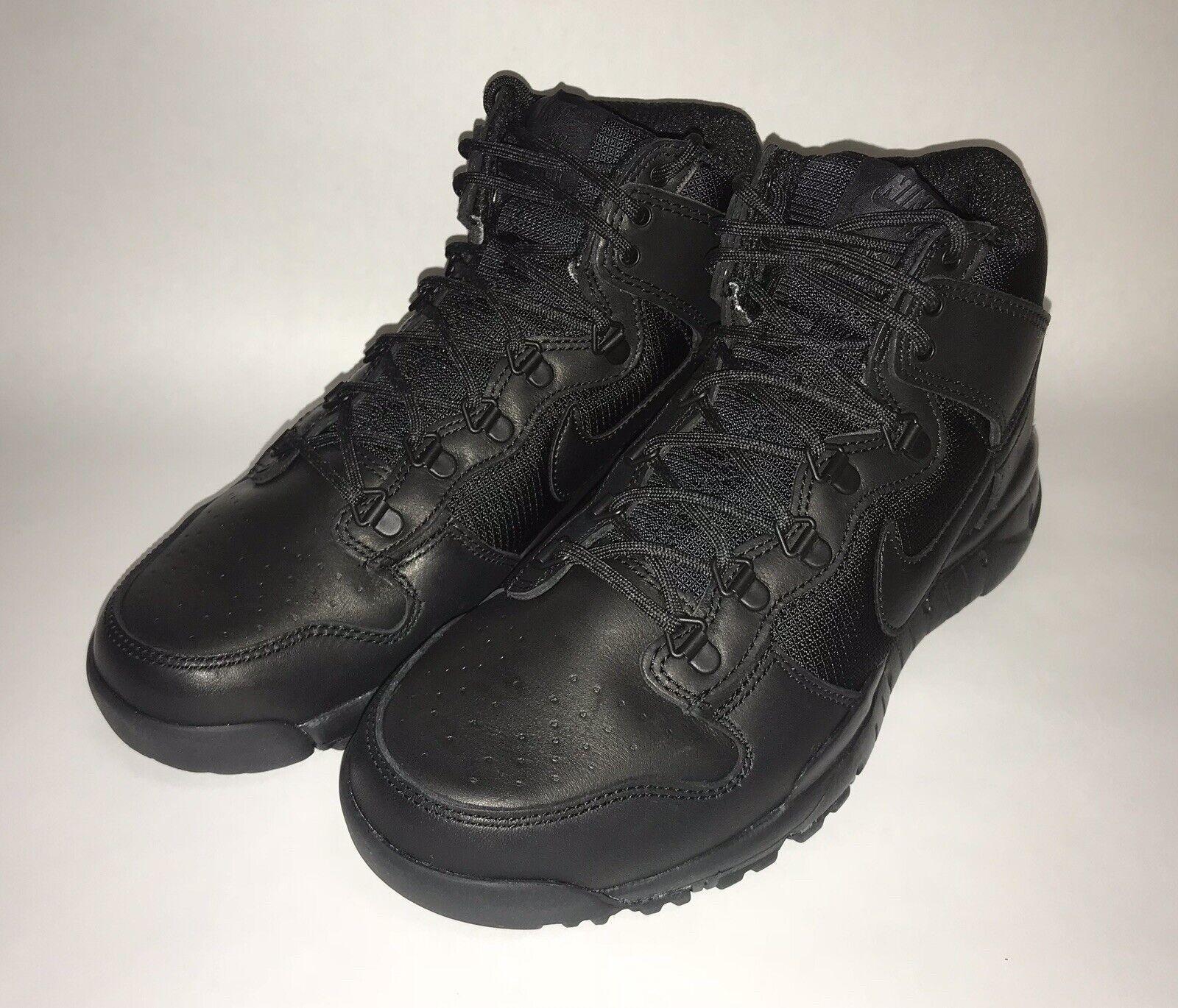 Nike Mens SB Dunk High Boot Size 8 Triple Black shoes (536182-001)