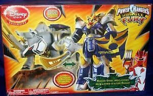 Power rangers jungle fury deluxe rhino steel megazord new disney image is loading power rangers jungle fury deluxe rhino steel megazord voltagebd Image collections