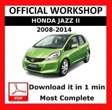 official workshop manual service repair honda jazz 2008 2014 ebay rh ebay co uk 2007 Honda Fit 2017 Honda Fit