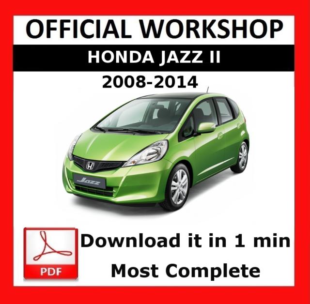 Official Workshop Manual Service Repair Honda Jazz 2008 2014 For