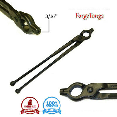 New Set large Quality v-bolt jaw tong blacksmithing forge tools reins with ball ends