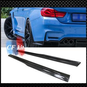 2Pcs-PSM-Style-F80-Carbon-Fiber-Side-Skirts-Extension-Kit-For-BMW-F82-F83-M3-M4