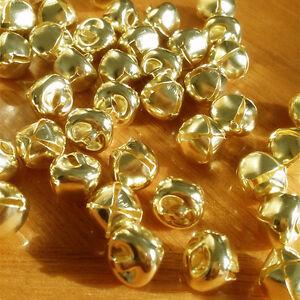 Glöckchen Gold Metall Glocken Schellen Jingle Bells Christmas Schmucksache O3Y2