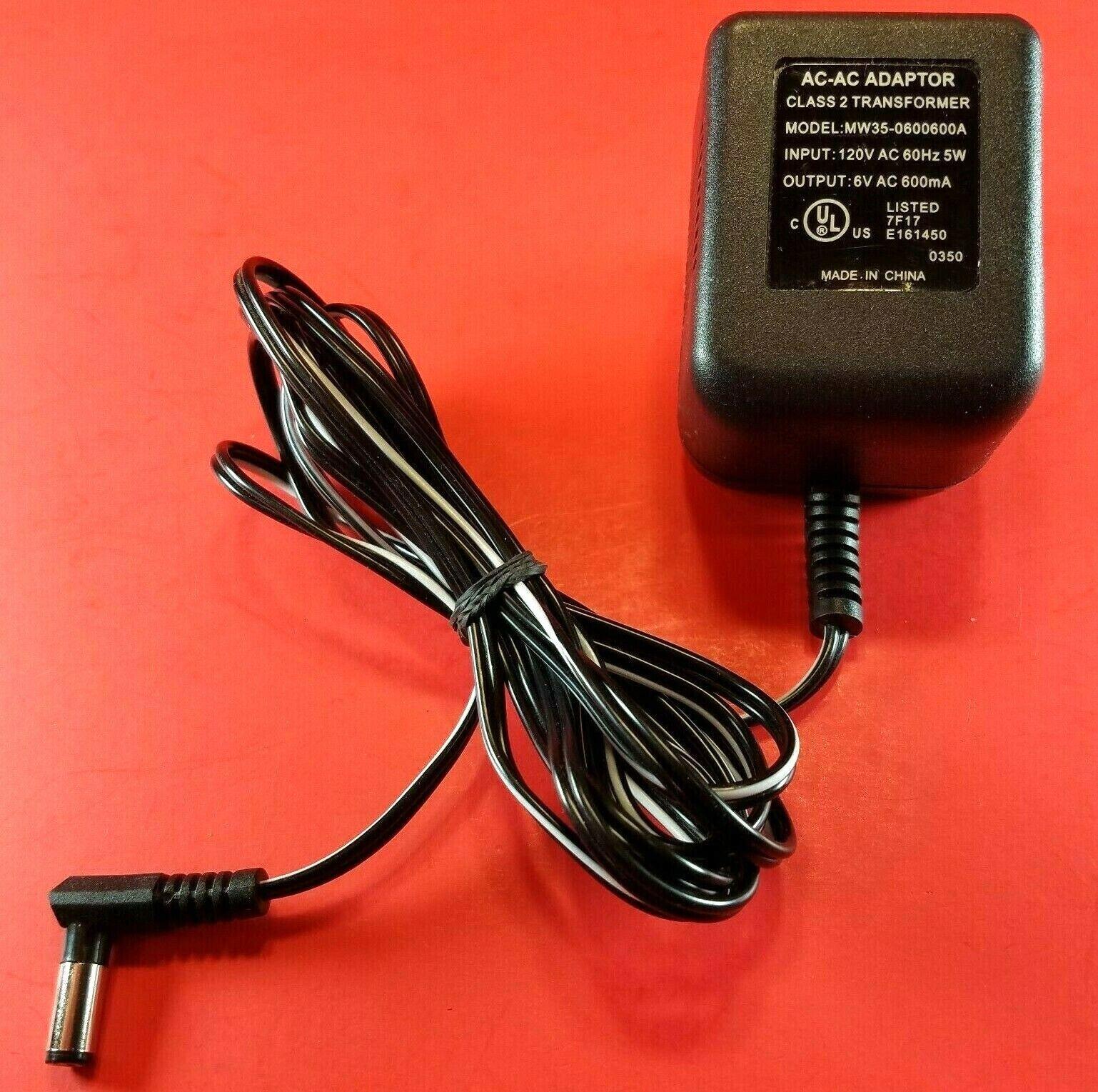 AC-AC Adapter MW35-0600600A Power Supply 6V - 600mA Adaptor Class 2 Transformer