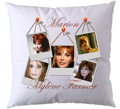 Cushion mylène farmer personalised with name of your choice