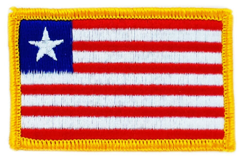 FLAG PATCH PATCHES LIBERIA LIBERIAN IRON ON COUNTRY EMBROIDERED WORLD FLAG