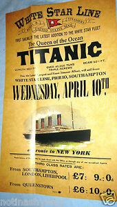 TITANIC Poster Disaster New York City Steamer Travel Sea Liverpool Belfast Ship