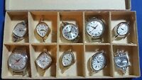 Lot Of 10 Elgin Watches Without Movement(case, Face, Hands, Glass)swiss Made