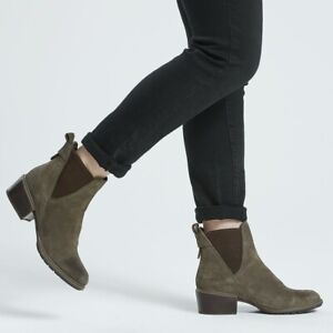 8e1dd750cfb Details about Timberland Sutherlin Bay Double Gore Chelsea - Women's Olive  Suede A1SCR901