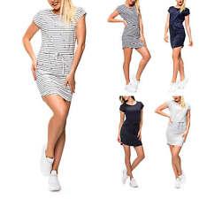 Only Damen Jerseykleid mit Print Shirtkleid Kurzarmkleid Jersey Shirt Kleid