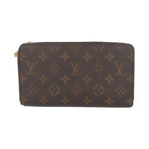 LOUIS-VUITTON-Zippy-Organizer-Round-Purse-wallet-M62581-Monogram-Brown-Used