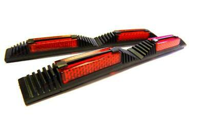 4x Push On Door Guard Protectors Edge Strip Reflectors Red