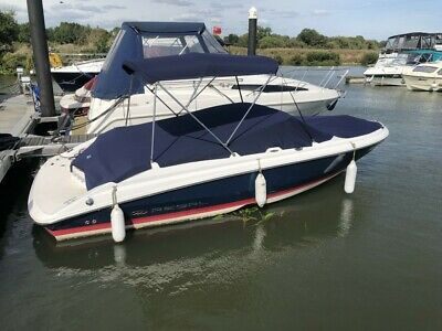 Boat Cover Fairline Targa 34 *NEW* Armada Navy Easy fit with bungee fixings.