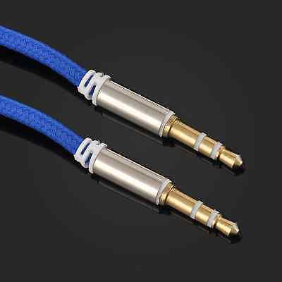 New Nylon Male to Male Car Aux Auxiliary Cord Stereo Audio Cable for Phone iPod
