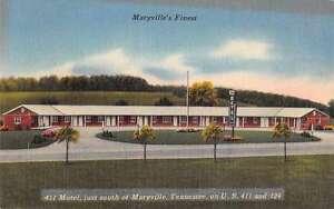 Maryville Tennessee Maryville Motel Vintage Postcard