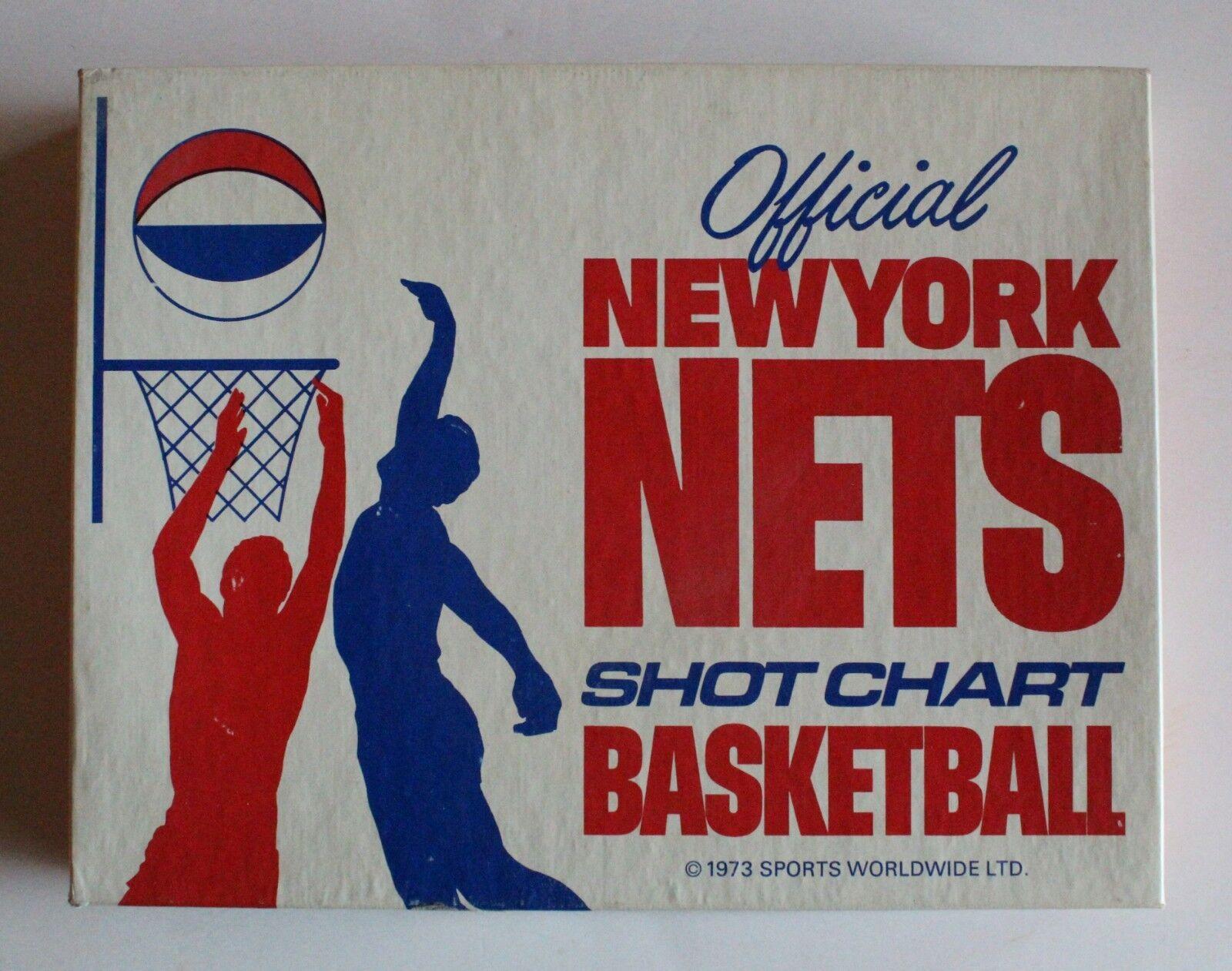 Officiel 1973 New York filets Shot Tableau Basketball Board Game