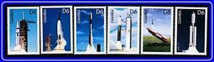 Diplomatique Gambie = Astronomie/fusées Spatiales X6 Timbres Neuf Sans Charnière ** Neuf-afficher Le Titre D'origine