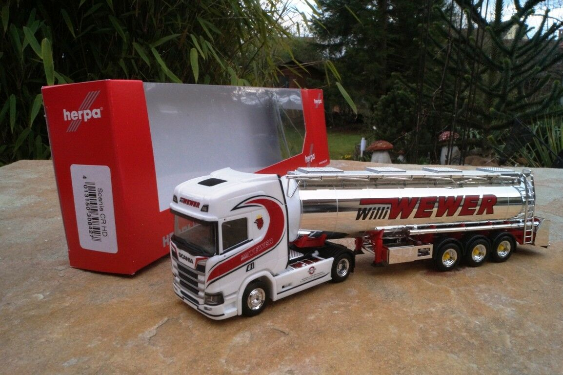 Herpa  Scania CR HD Chromtank-Sattelzug Chromtank-Sattelzug Chromtank-Sattelzug  Willi Wewer   308427 1 87 d42dc5