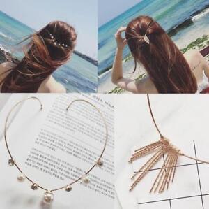 Femme-Epingles-Cheveux-Barrettes-Serre-tete-Bandeau-Strass-Perles-Fleur-Coiffure