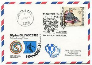 1982 Sonder Ballonpost N. 25 Pro J F-gazk Cassiofee Haus Steiermark Aich Assach